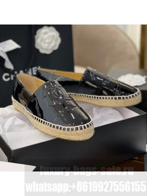 Chanel CC Patent Leather Espadrilles Black Spring/Summer 2021 Collection 61