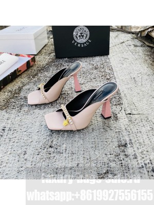 VERSACE ARTIFACT 95MM MULES PINK 2021 Collection