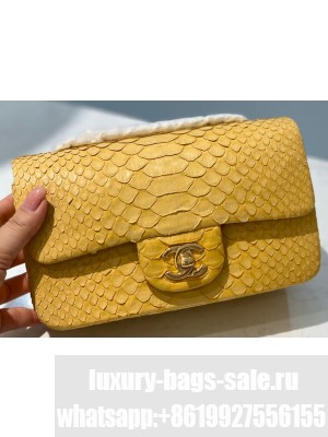 Chanel Python Classic Flap Small Bag A1116 11