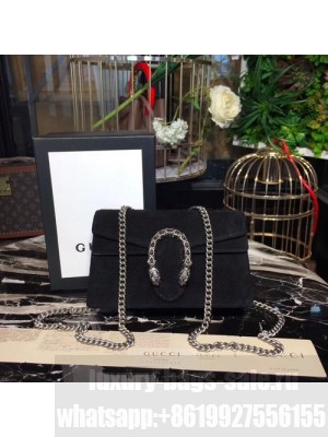 Gucci Dionysus Super Mini Velvet Bag with Crystals 17cm 476432 Calfskin Leather Fall/Winter 2017 Collection, Black