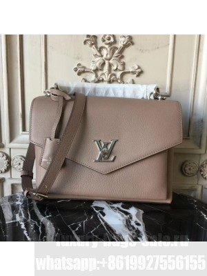 Louis Vuitton My Lockme 26cm Bag Calfskin Canvas Leather Fall/Winter 2017 Collection M54877,  Taupe Glace