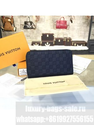 Louis Vuitton Zippy Organizer Wallet Damier Infini Leather Canvas Fall/Winter 2016 Collection N63010, Onyx
