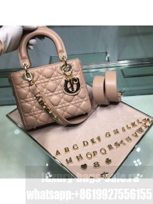 Dior MY ABCDior Medium Bag in Cannage Leather Nude 2019 Collection