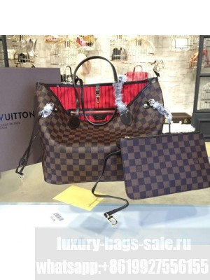 Louis Vuitton Neverfull MM Damier Ebene Canvas Cruise 2016 Collection, Cherry N41358