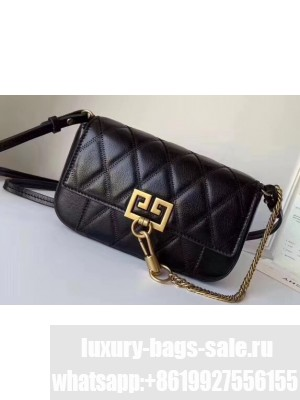 Givenchy Mini Pocket Bag in Diamond Quilted Leather Black