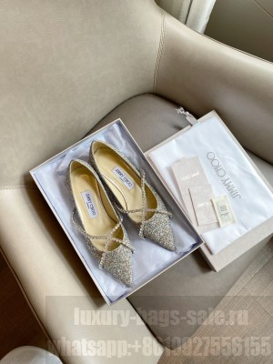 Jimmy Choo Glitter with Crystal Strap Flat 10mm 2021 Collection