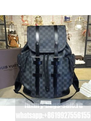 Louis Vuitton Christopher Backpack Damier Graphite Canvas Fall/Winter 2016 Collection N41379