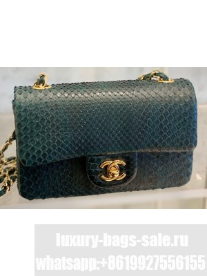 Chanel Python Classic Flap Small Bag A1116 08