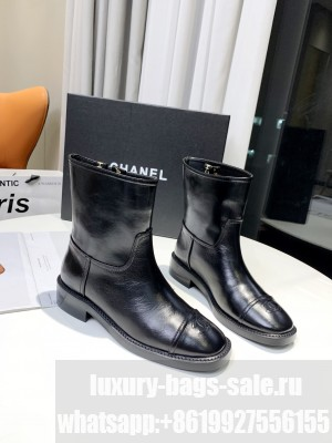 Chanel Calfskin 3cm Black Ankle Boots 2021 Collection