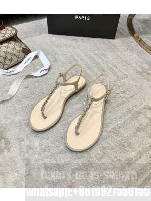 Chanel Suede Thong Slide Sandal Gray 2021 Collection