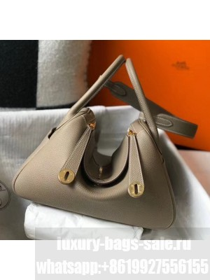 Hermes Lindy 30cm Bag In Togo Calfskin Leather Dove Gray 2020 Collection