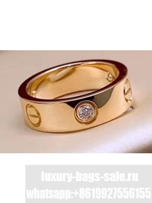 Cartier Love Ring with 1 Diamond Yellow Gold