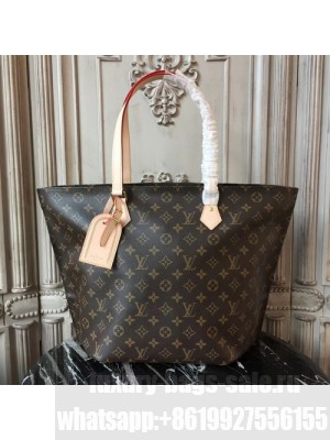 Louis Vuitton All In PM 37cm Foldable Travel Tote Bag Monogram Canvas Fall/Winter 2017 Collection M47028, Beige
