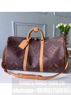 Louis Vuitton Giant Monogram Keepall Bandouliere 50 Top Handle Bag M44739 2019 Collection