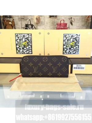 Louis Vuitton Clemence Zippy Wallet Monogram Leather Canvas Fall/Winter 2016 Collection M60742, Cherry