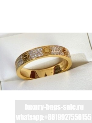 Cartier Love Ring diamond-paved Yellow Gold