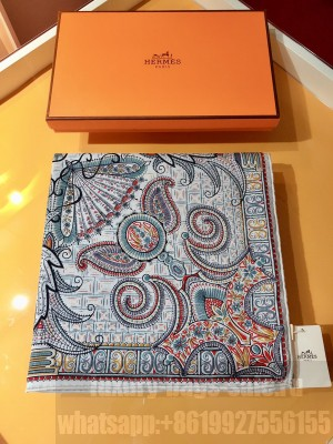 Hermes Shawl in cashmere and silk 140 x 140cm 2021 H053