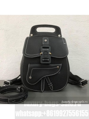 Dior Men's Small Saddle Homme Backpack Black 2019 Collection