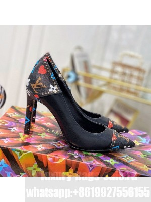 Louis Vuitton Game On Cherie Pump 9.5cm in Studded Monogram Canvas 2021 Collection