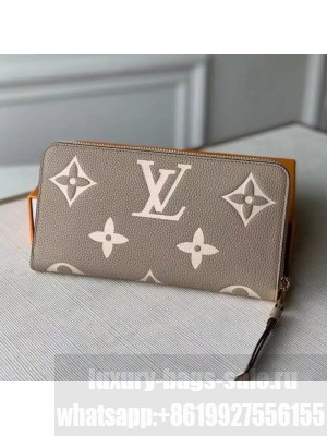 Louis Vuitton Zippy Wallet in Giant Monogram Leather M69794 Grey 2021 Collection