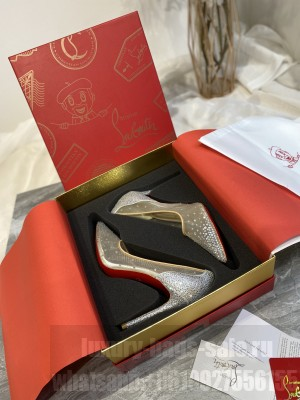 Christian Louboutin Crystal Mesh 10cm Pumps Silver 2021 Collection