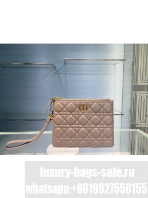 SMALL DIOR CARO DAILY POUCH S5085U pink