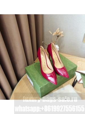 Gucci Patent Leather 10.5cm Red Pumps 2021 Collection