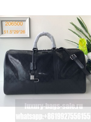 Gucci GG Canvas Carry-on Duffle Travel Bag 206500 Black Collection