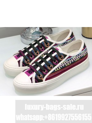 Dior Walk'n'Dior Low-Top Sneakers Ethnic Embroidered
