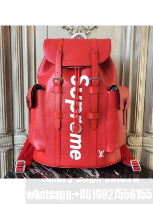 Louis Vuitton x Supreme Christopher Backpack Epi Canvas Fall/Winter 2017 Collection M40935, Red