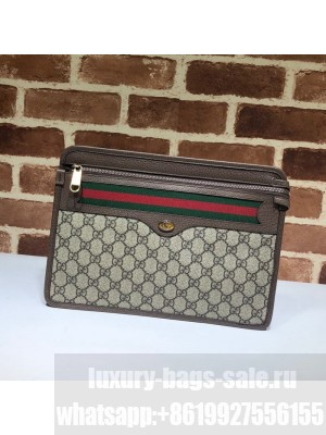 Gucci GG Canvas Web Zip Pouch 597619 2019 Collection