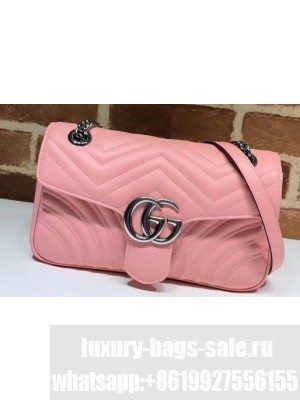 Gucci Leather GG Marmont Small Shoulder Bag 443497 Pastel Pink 2020