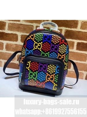 Gucci GG Psychedelic Small Backpack Bag 601296 Black 2020