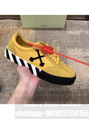 Off-White Low Top Stripe Sneakers in Yellow 2020 Collection