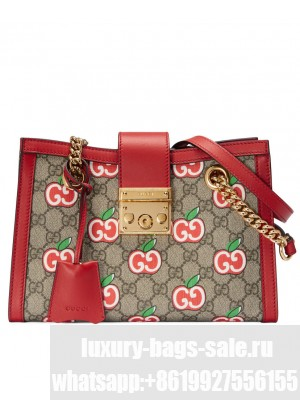 Gucci Chinese Valentine's Day Padlock GG small shoulder Red