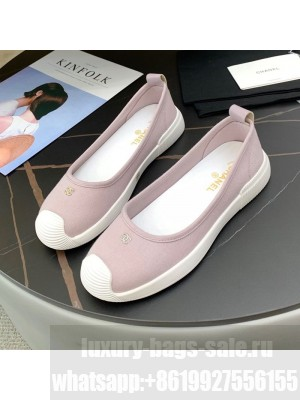 Chanel Canvas Flat Loafers Shoes Pink Spring/Summer 2021 Collection