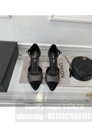 Chanel OPEN SHOES Strass  Black Wedge G37869 2021 Collection