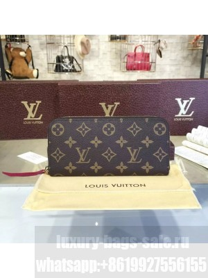 Louis Vuitton Clemence Wallet Monogram Leather Fall/Winter 2016 Collection M60742, Fuchsia